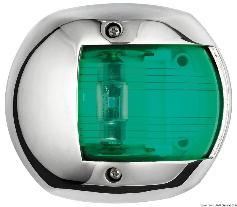Osculati LED Positionsleuchte Navigationslicht schwarz//112.5 Grad rechts