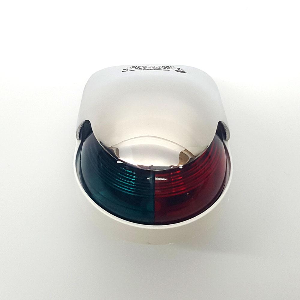 Osculati Positionsleuchte Navigationslicht Edelstahl V4A 225° zweifarbig r//g