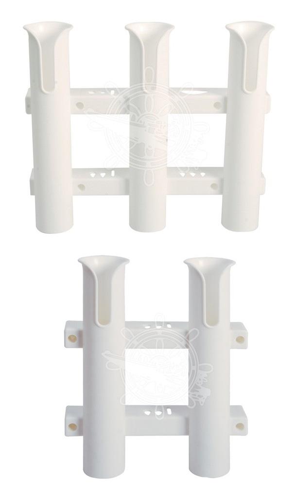 Angelrutenhalter 2fach oder 3fach aus Kunststoff Angelruten zur Wandmontage