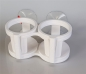 Anti-slip cup holder with suction cup holder 2/4 places
