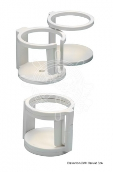 Anti-slip cup holder with suction cup holder 1/2 places