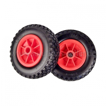 PU - Polyurethane wheel, floats like a pneumatic wheel. Ø 200 mm x 2