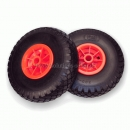 PU - Polyurethane wheel, floats like a pneumatic wheel. Ø 260mm x 2